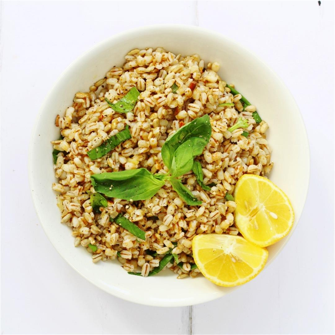 Lemon Basil and Barley Salad