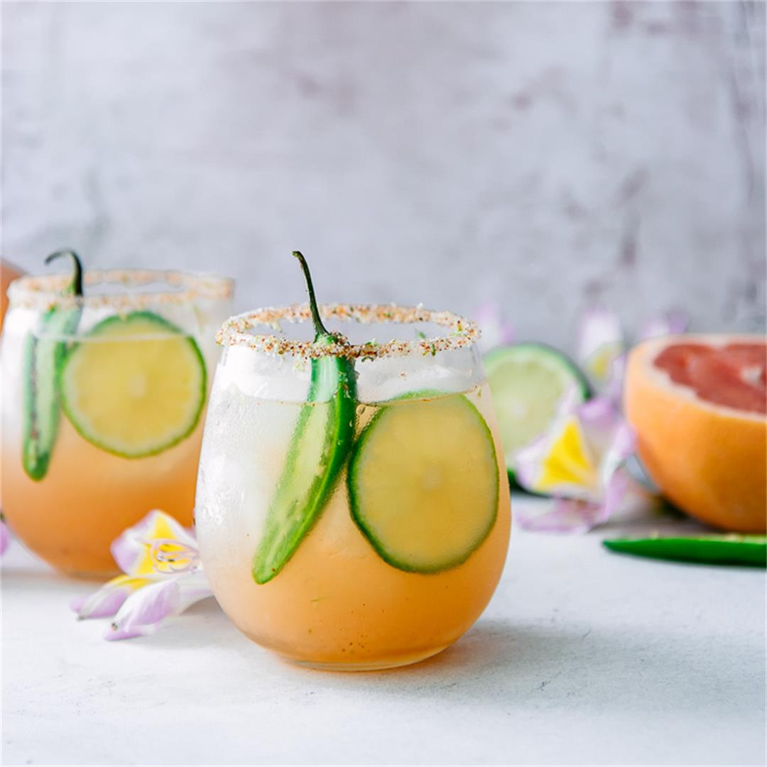 Spicy Ruby Red Grapefruit Margarita