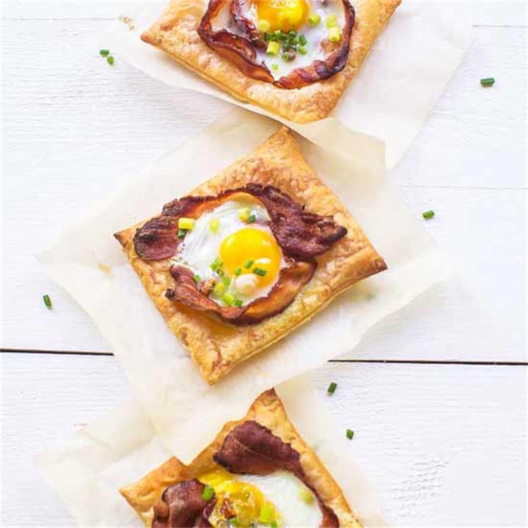 Festive puff pastry egg tarts