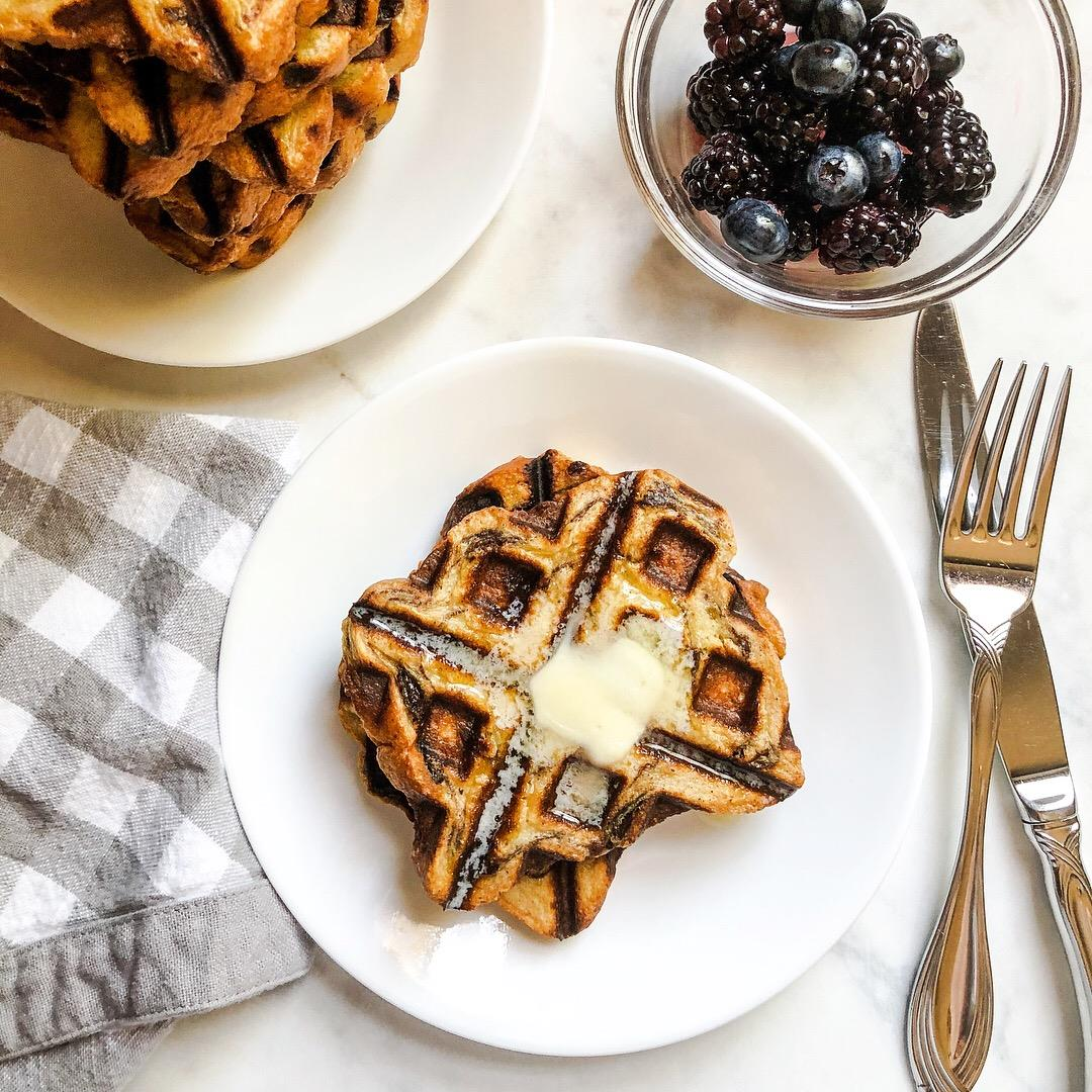 Cinnamon Raisin French Toast Waffles