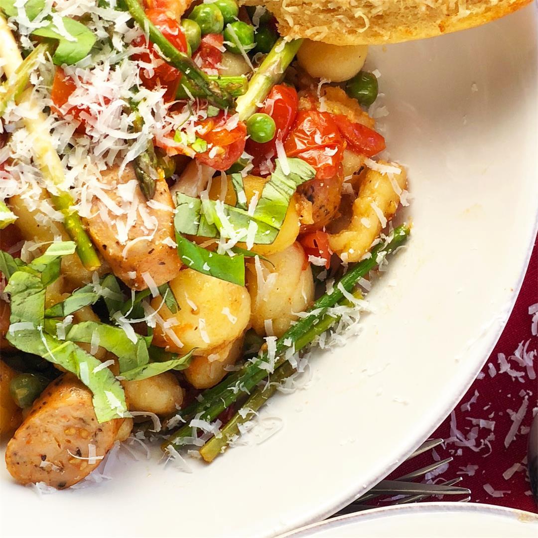 Gnocchi Primavera with Chicken Sausage