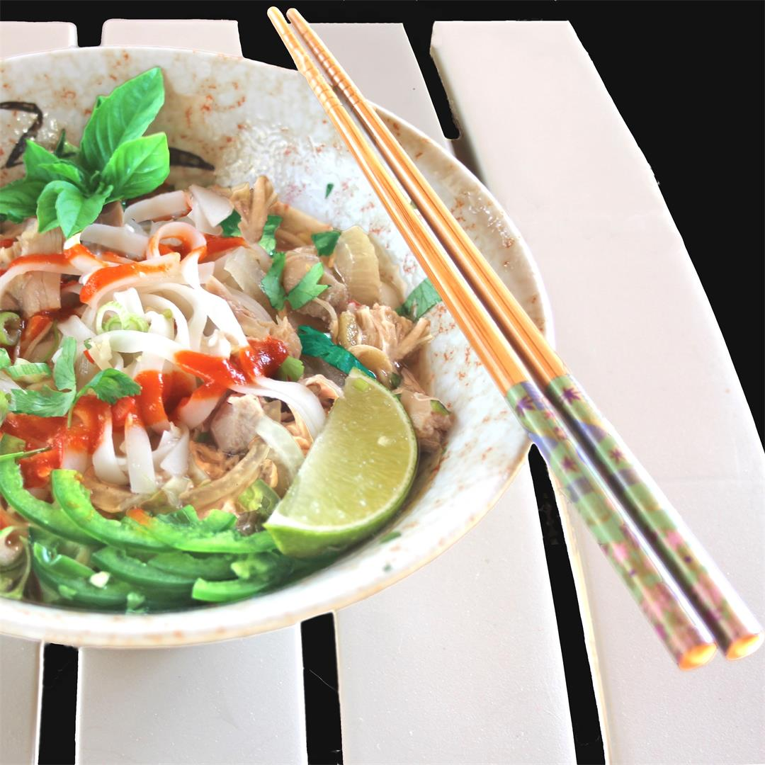 Slow-Cooker Rotisserie Chicken Pho Ga