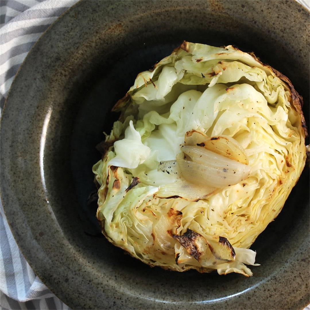 Buttery, caramelized, deliciously grilled cabbage!