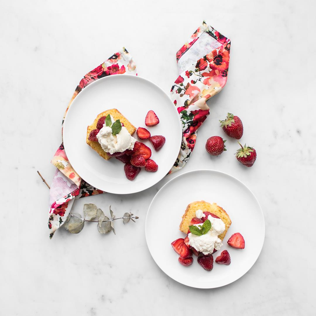 Strawberry Shortcake Cake with Mascarpone Cream
