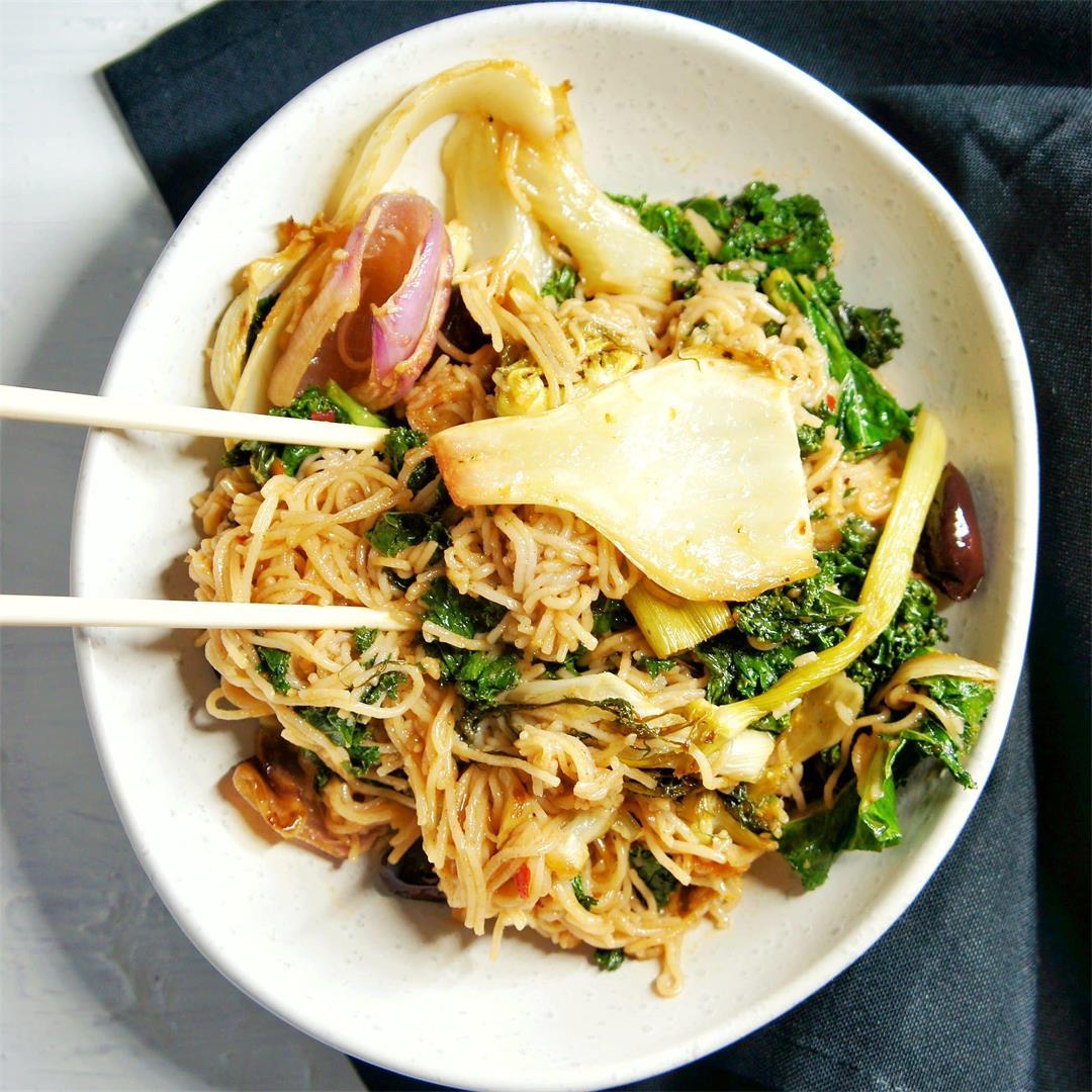 Kale and Fennel Vegan Noodles