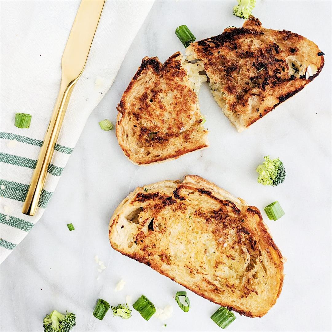 Green Goddess Grilled Cheese - healthy + wholesome!