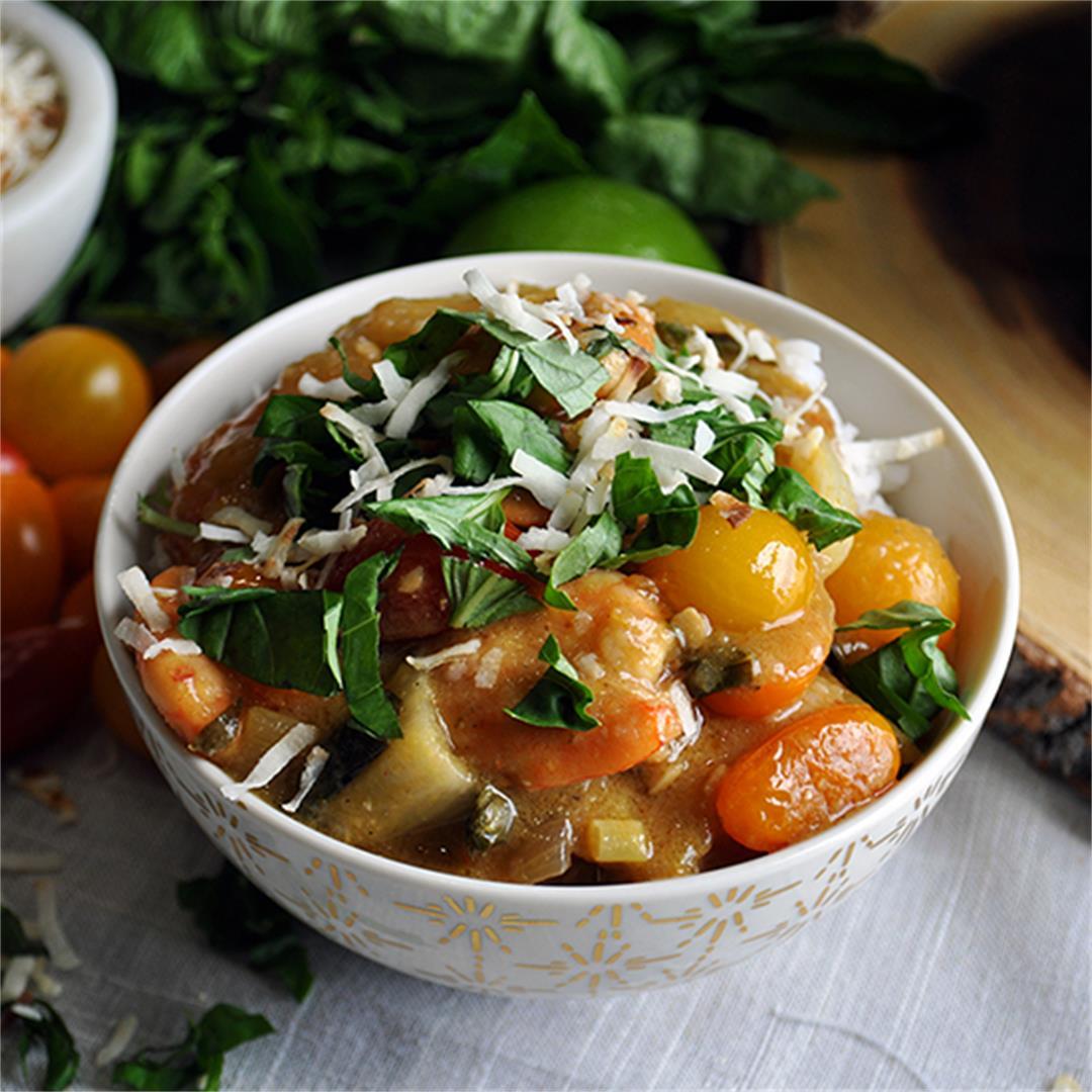 Thai Curry Shrimp and Rice.