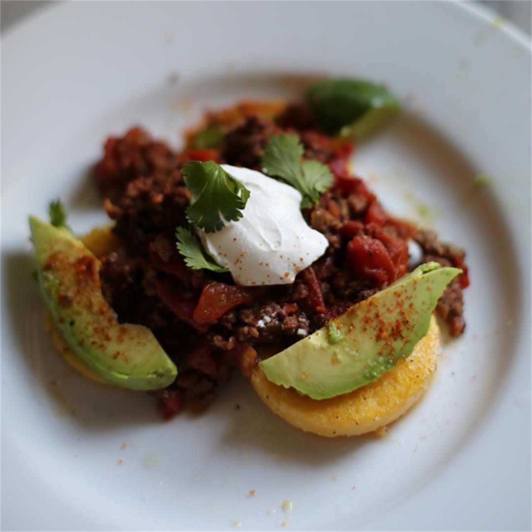 Polenta Round Tacos