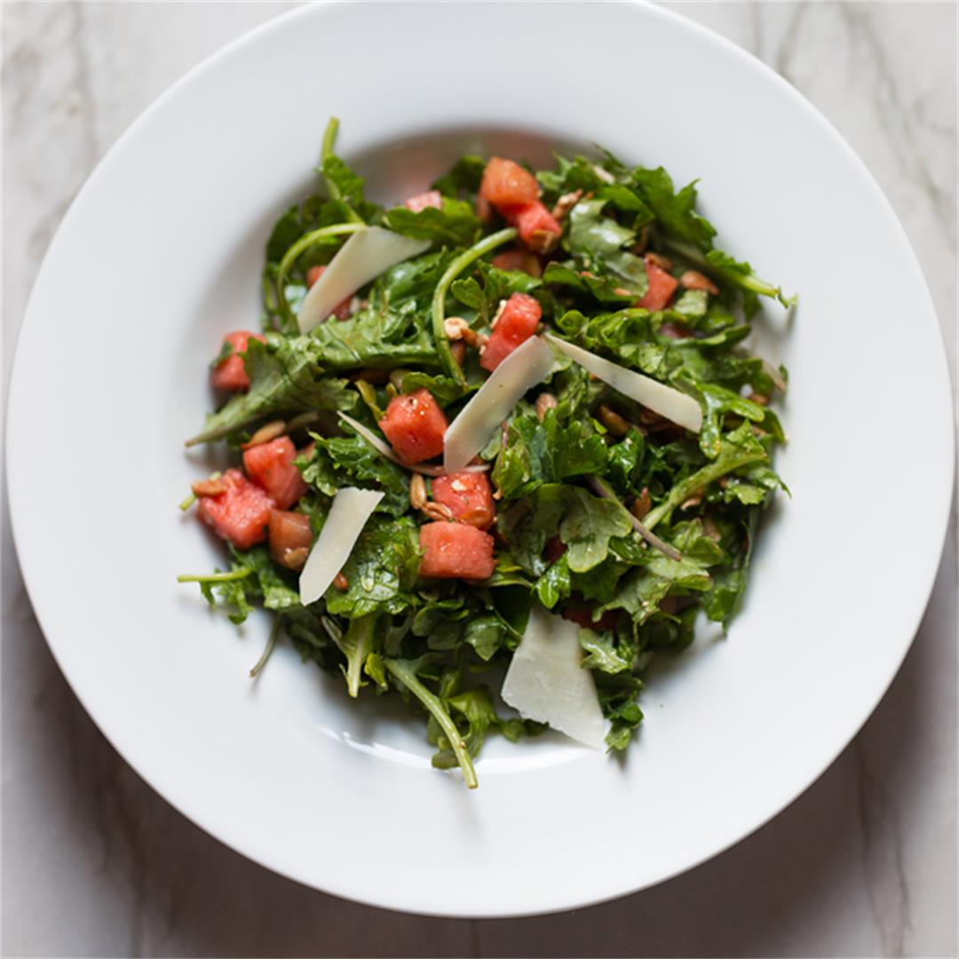 Watermelon Kale Summer Salad