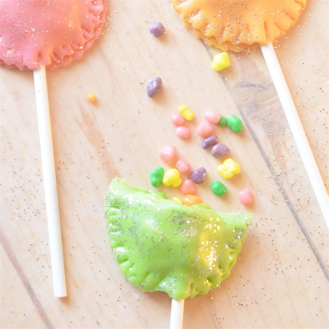 Sparkly Tootsie Roll Surprise Pops