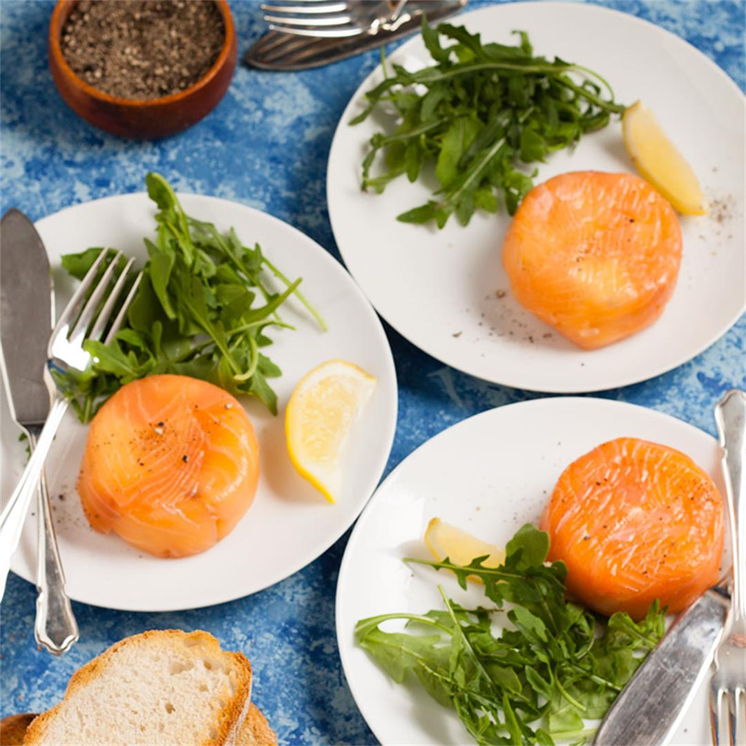smoked salmon, cream cheese and cucumber parcels