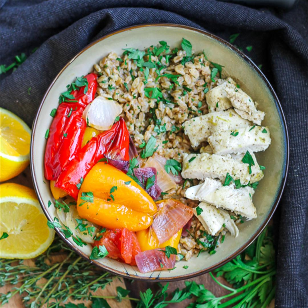 Chopped Summer Vegetable Salad with Farro, Yogurt and Za'atar Chopped Summer Vegetable Salad with Farro, Yogurt and Za'atar new photo