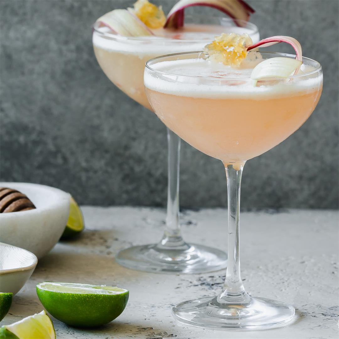 Rhubarb and Honey Pisco Sour