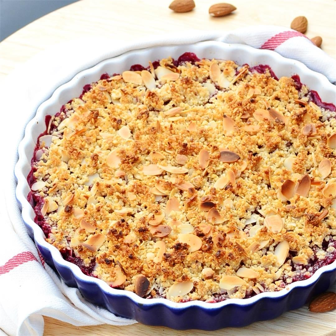 Cherry Crumble with Quinoa & Almonds