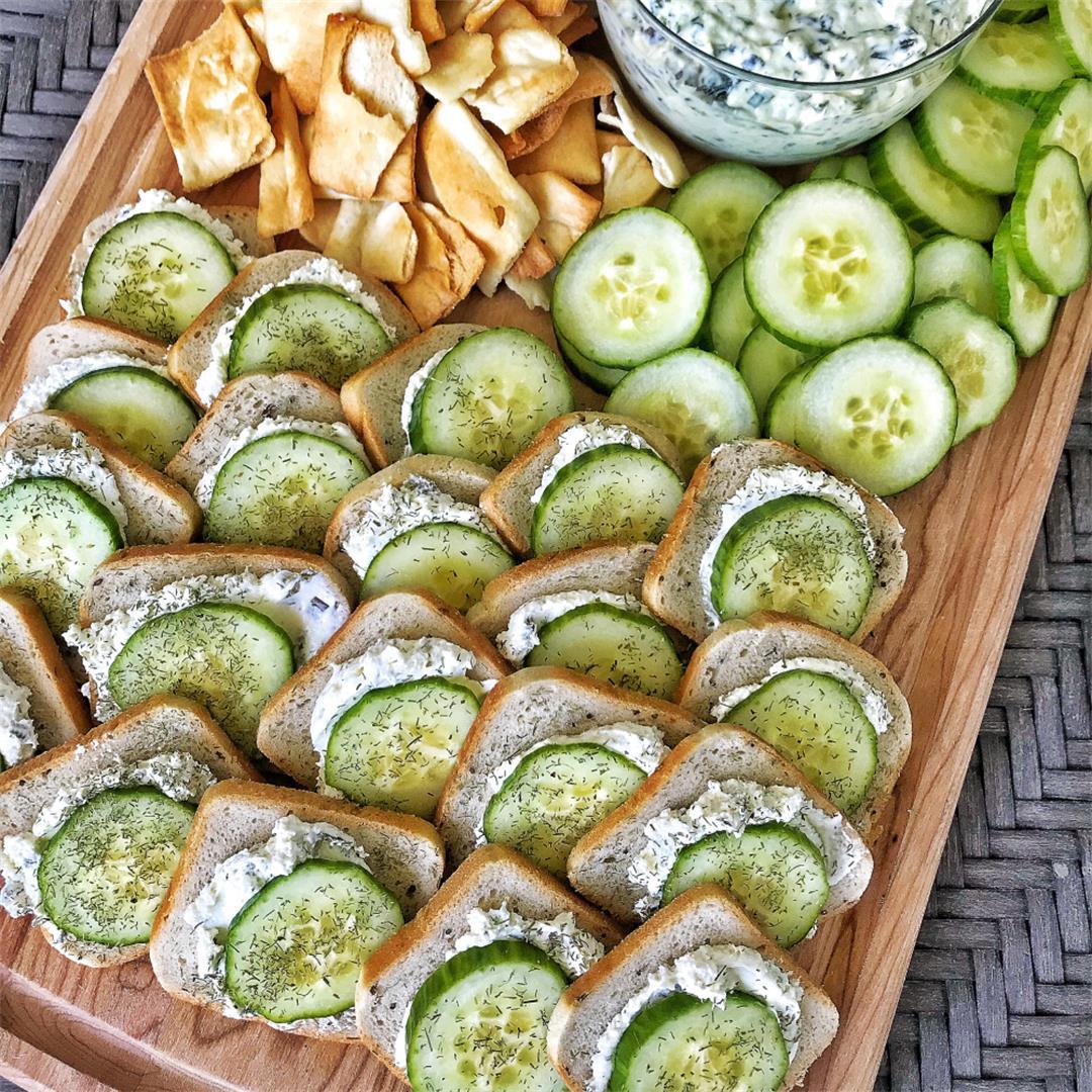 Cream Cheese Cucumber Sandwiches