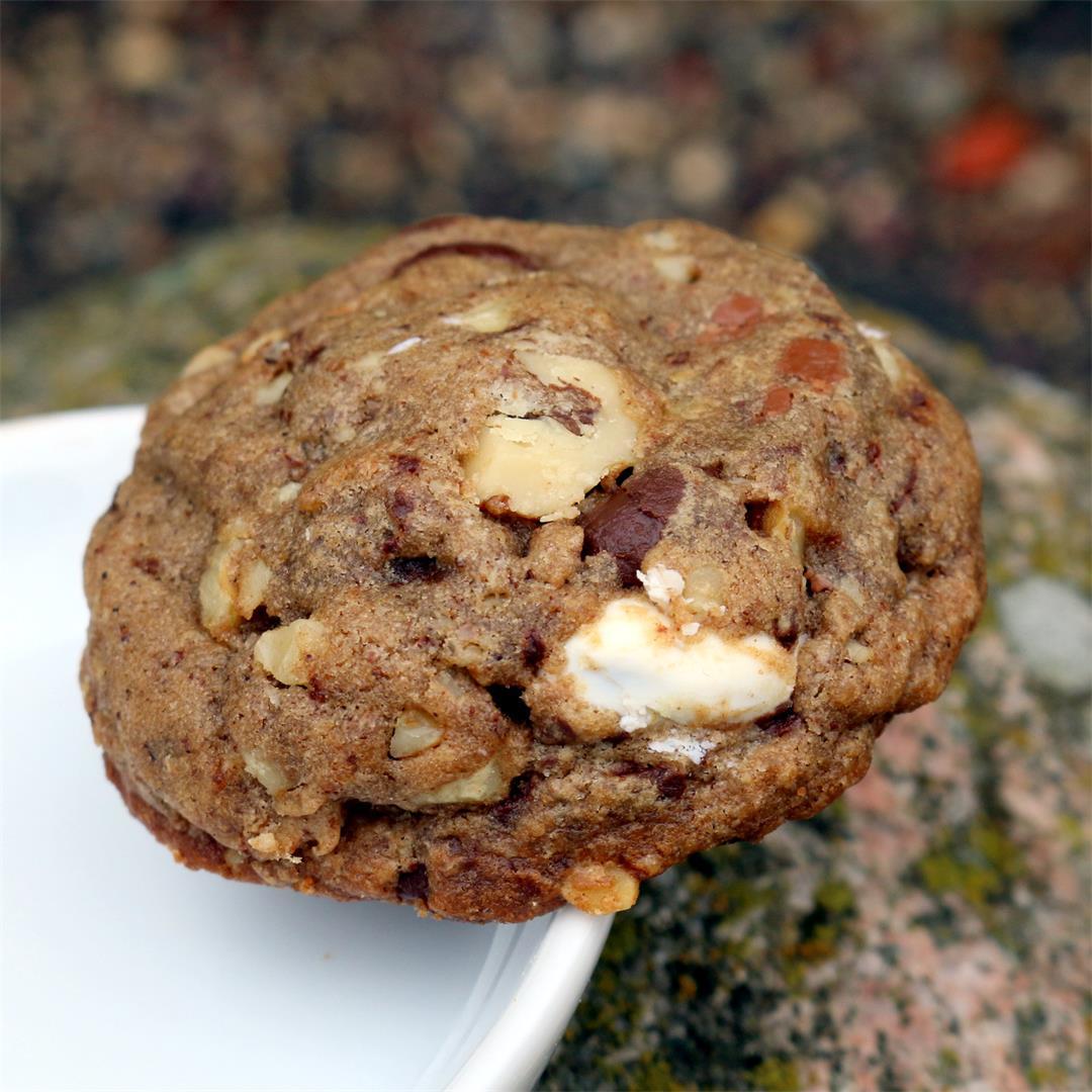 Coffee Chocolate Walnut Cookies