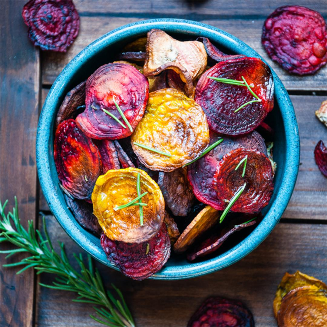 Rosemary Roasted Beet Chips