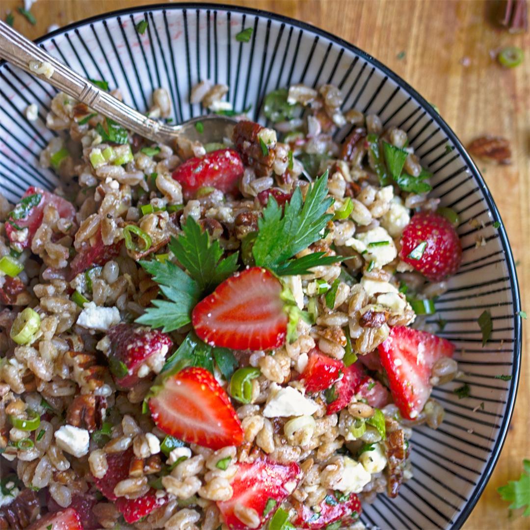 Strawberry Farro Salad