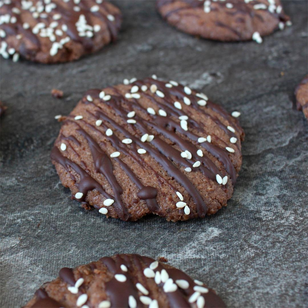 Triple Chocolate Tahini Cookies (Vegan)