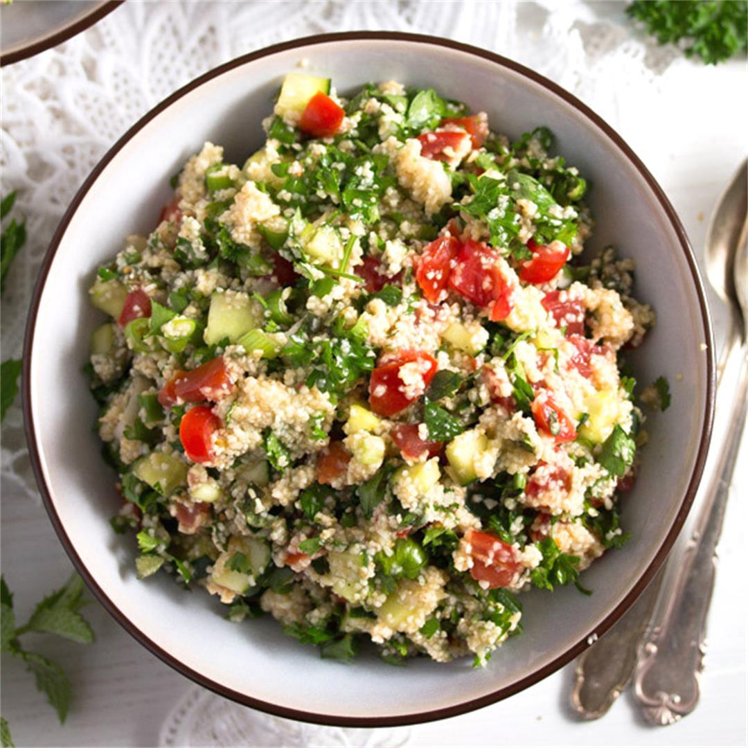 Tabbouleh or Tabouli Salad with Parsley
