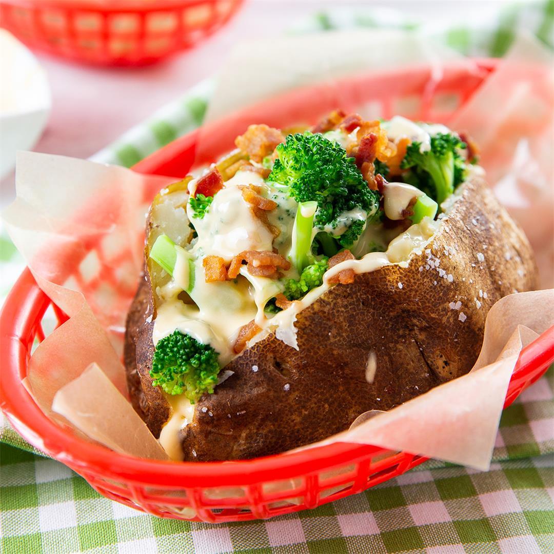 Disneyland Bacon Broccoli & Cheese Stuffed Baked Potatoes