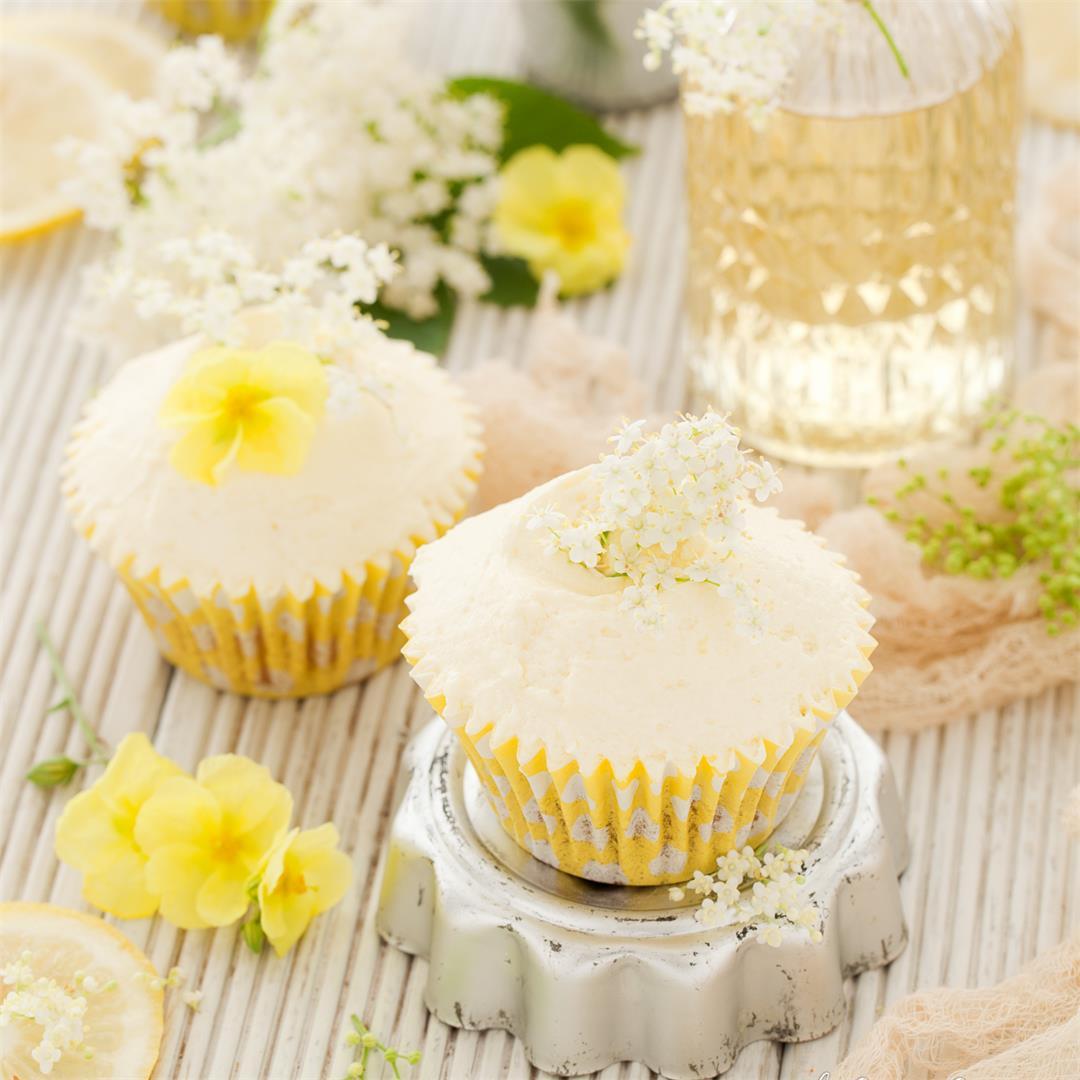 Vegan Lemon & Elderflower Cupcakes