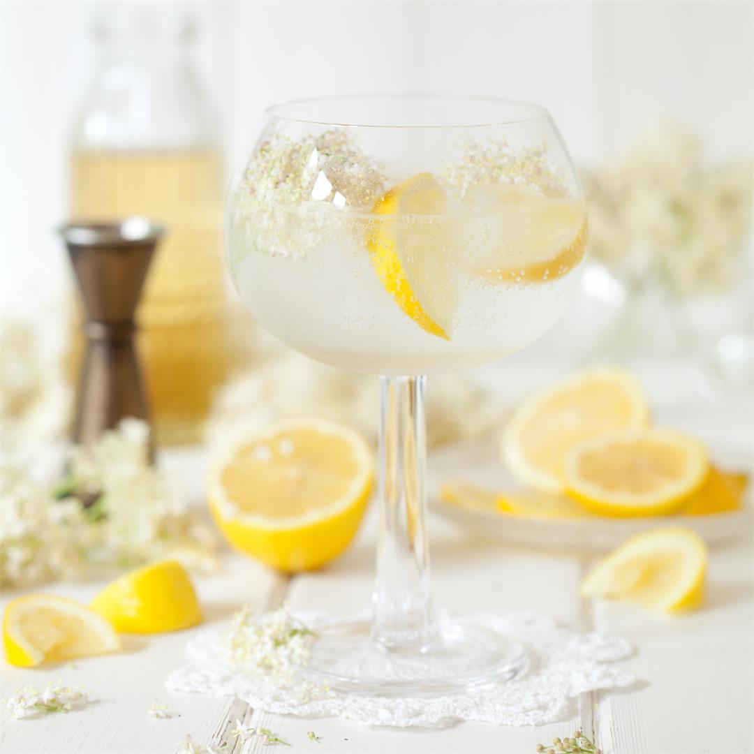 Summer Gin & Tonic with Lemon & Elderflower