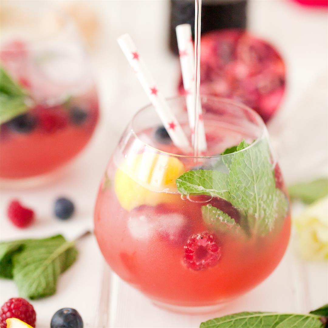 Sparkling Pomegranate Lemon Cooler