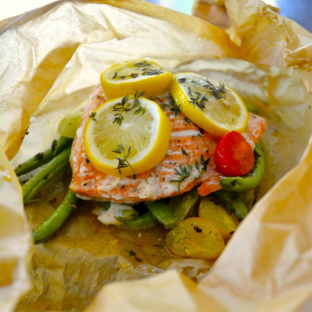 Salmon en Papillote - the best most foolproof way to cook fish