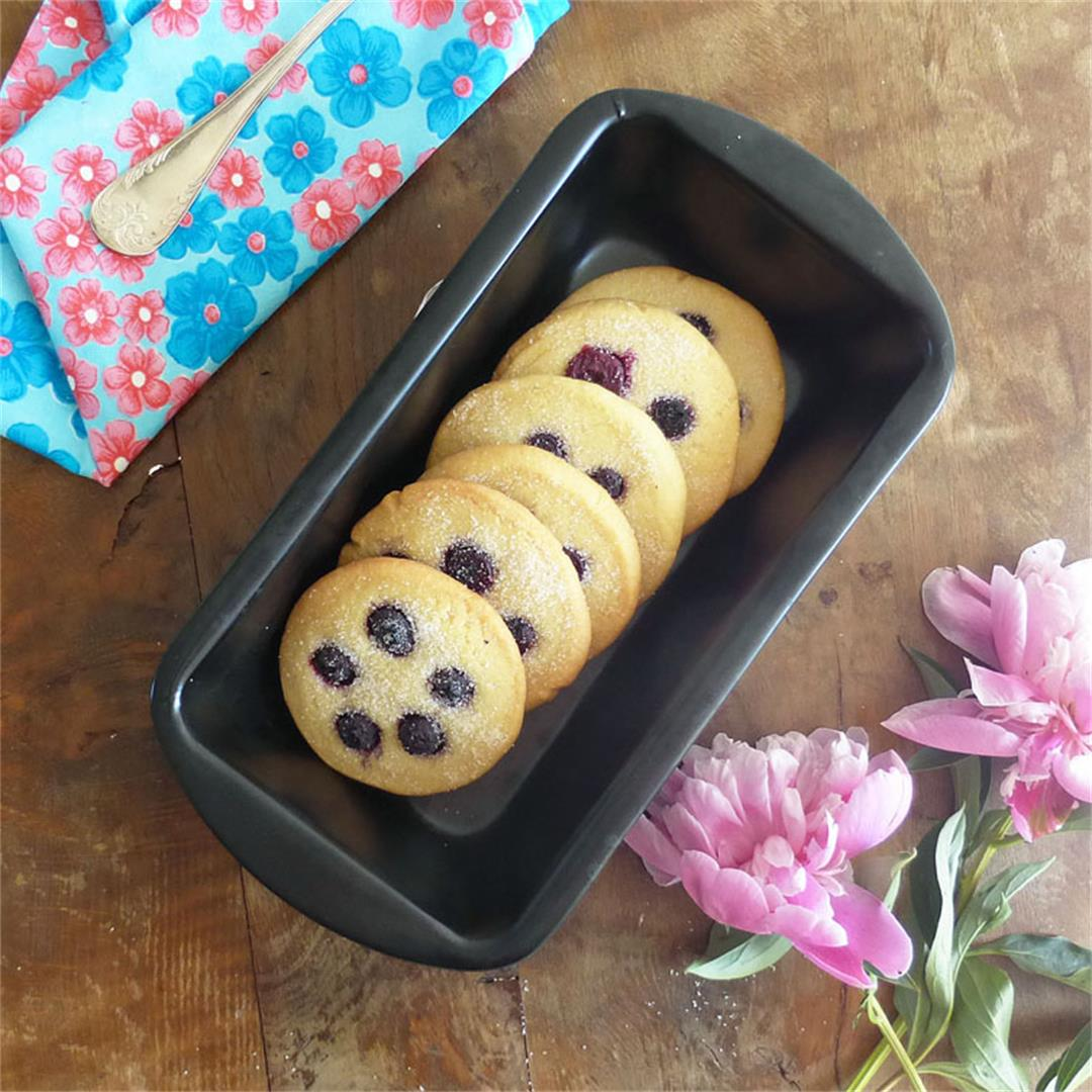 Blueberry Spelt Flour Butter Cookies (from scratch)