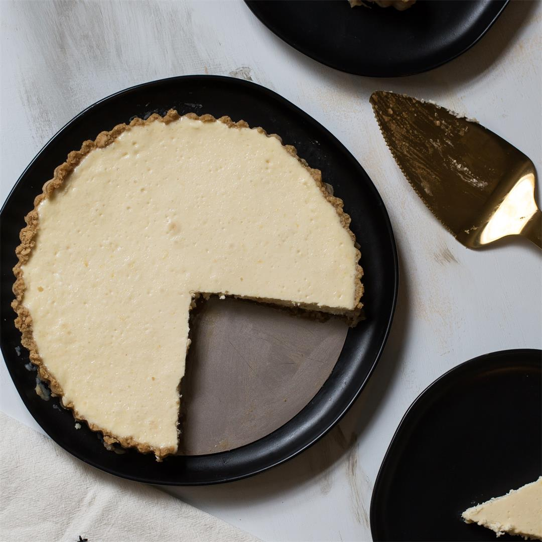 Brown Sugar Bottom Cheesecake Tart