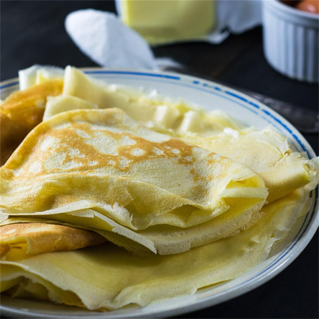 Basic Crepes Recipe {sweet and savory versions}