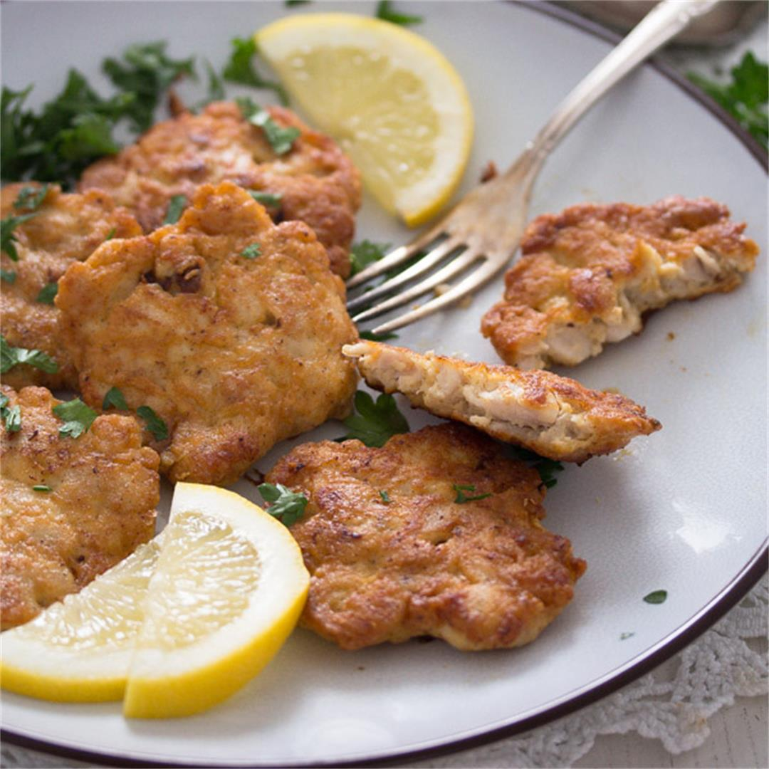 Tender Chicken Breast Fritters or Patties– Russian Food
