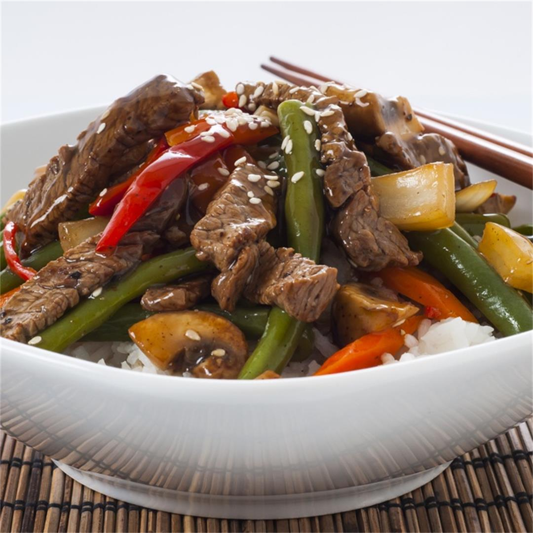 Instant Pot Beef & Green Bean Stir Fry