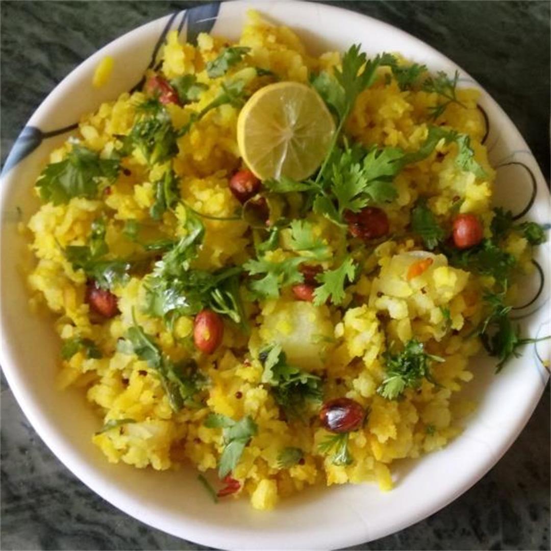 Authentic Onion & Potato Poha of India