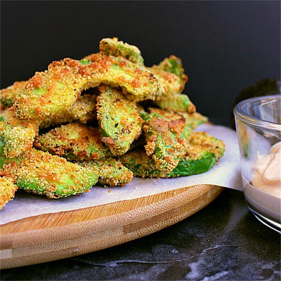 Low Carb Avocado Fries with Chipotle Mayo
