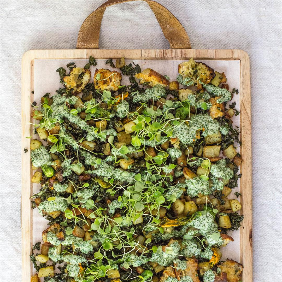 Crispy Kale and Potato Hash