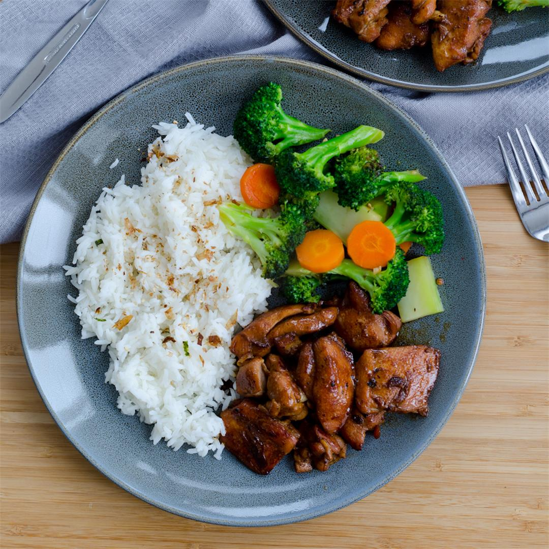 Teriyaki Chicken and Broccoli with Carrot
