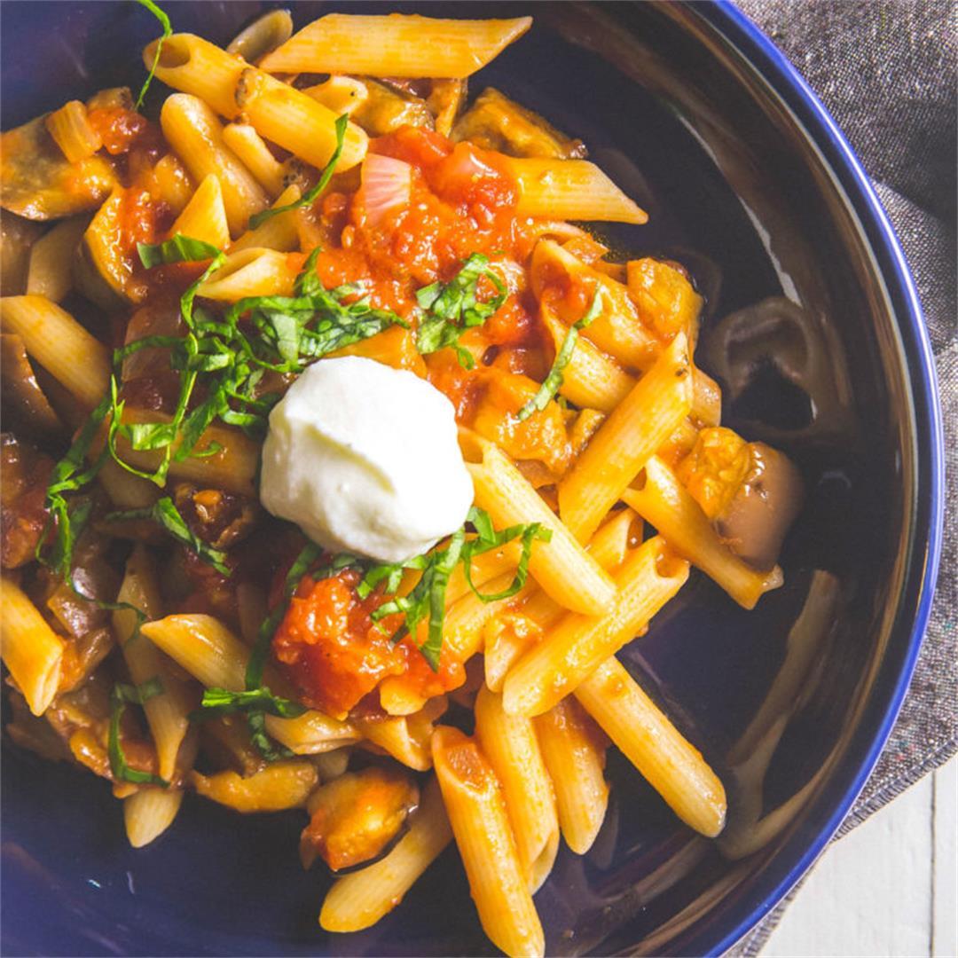 Gluten Free Eggplant & Tomato Pasta