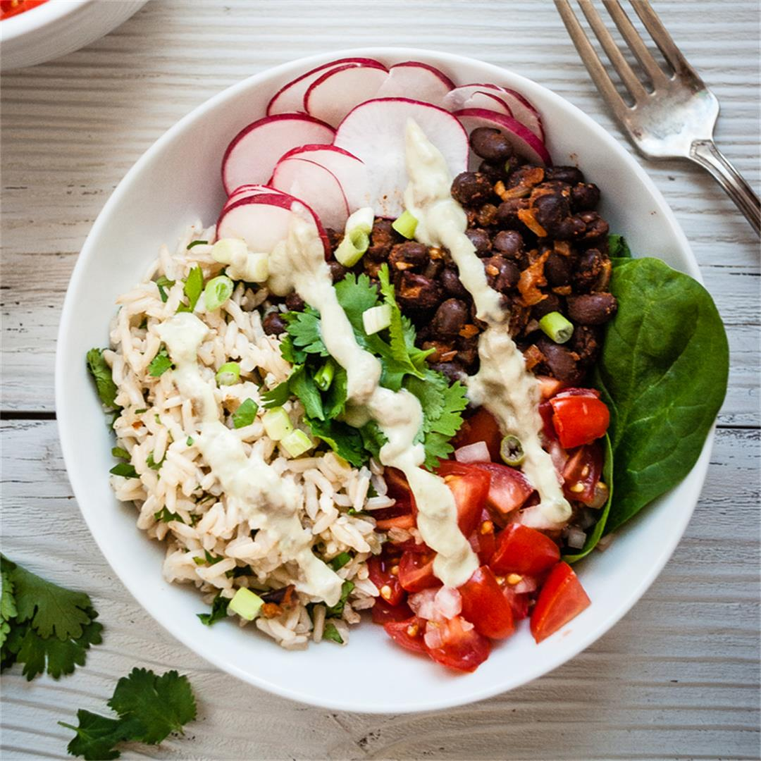 Smoky Black Bean Burrito Bowl