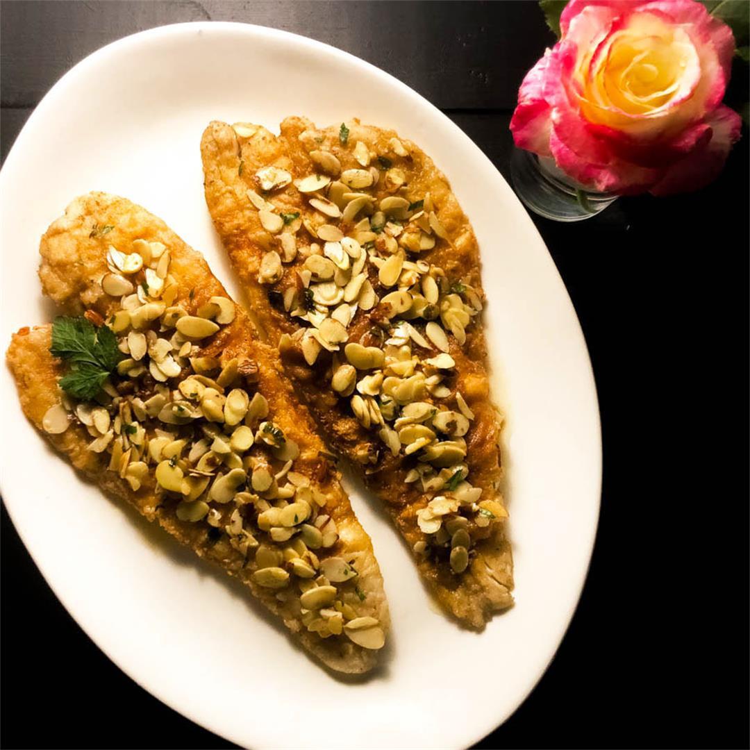 Gluten Free Louisiana Trout Almondine