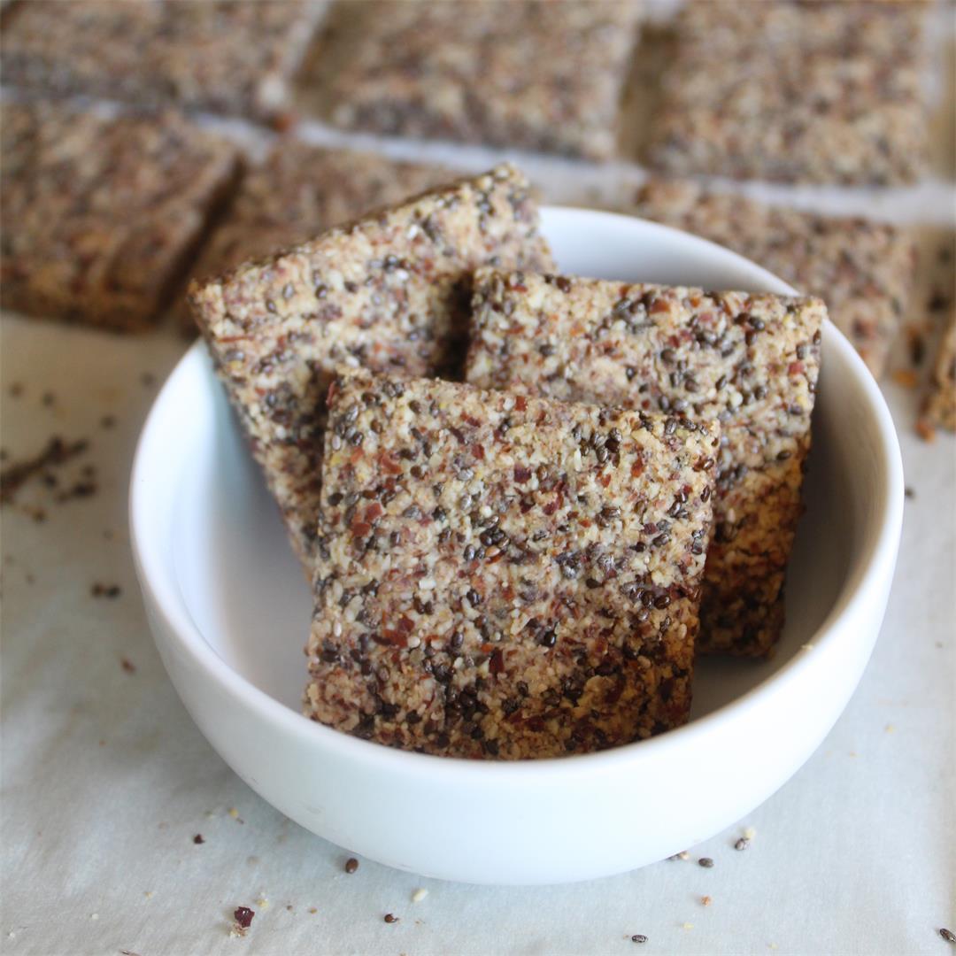 Gluten Free Chia Flax Crackers