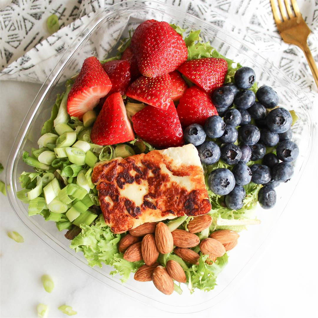 Berry Bliss Summer Salad with Halloumi!