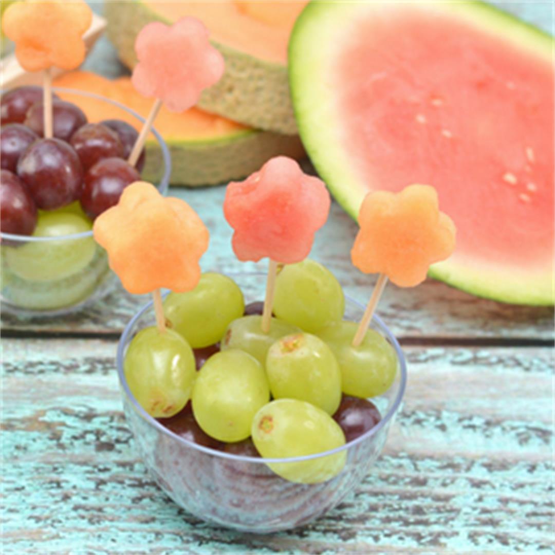 Flower Fruit Cups