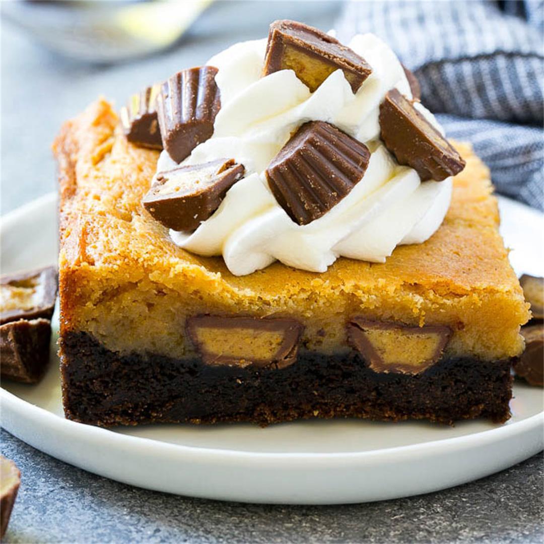 Peanut Butter Chocolate Gooey Butter Cake