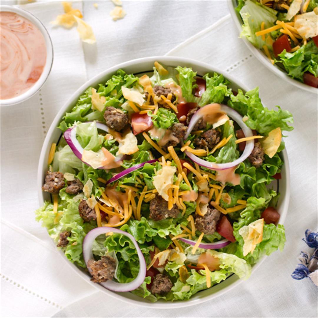 Leftover Cheeseburger Salad
