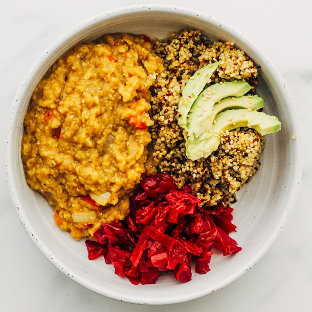 Vegan Smoky Red Lentil Stew With Hearty Quinoa