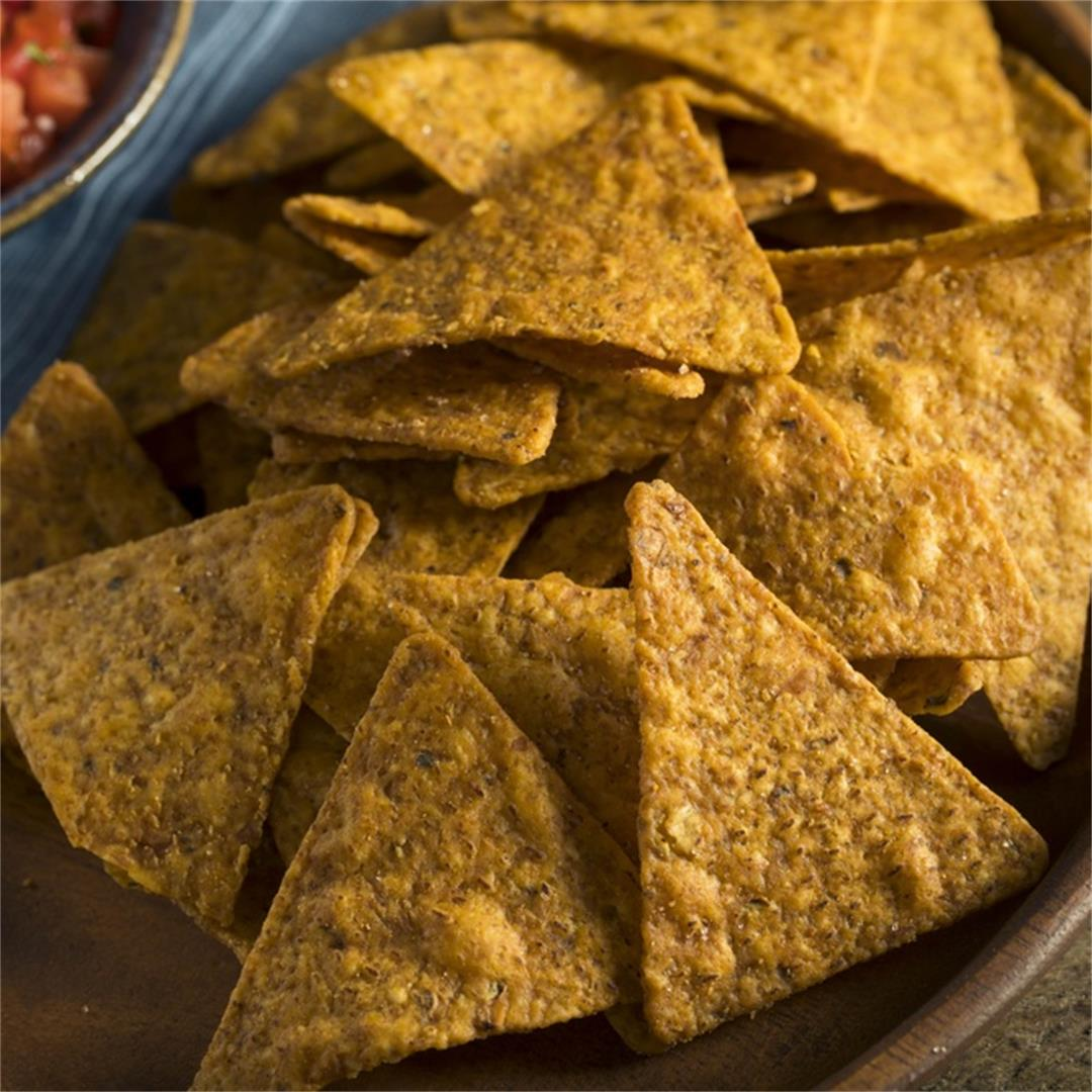 Airfryer Pumpkin Tortilla Chips