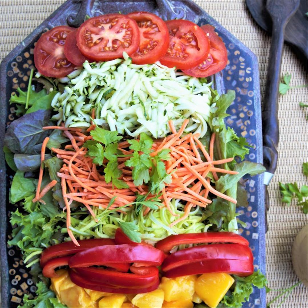 Spring Vegetable Salad With Hot Peanut Dressing