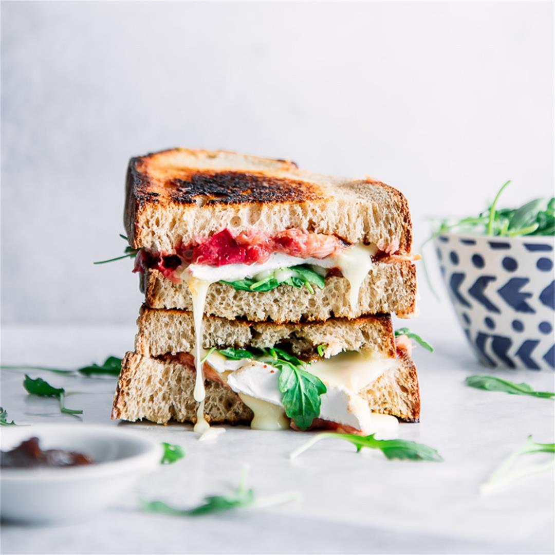 Roasted Rhubarb Brie Sandwich